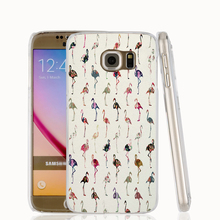 18186 Girly Whimsical Floral Flamingos Fabric cell phone case cover for Samsung Galaxy S7 edge PLUS S6 S5 S4 S3 MINI