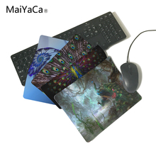 MaiYaCa Unique Design Green Peacocks In Jungle Computer Mouse Pad Mousepads Decorate Your Desk Non-Skid Rubber Pad(China)