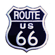 Route 66 Black Badge Embroidered Iron On Patch, US highway Embroidered Patch Sticker, Biker Vest Clothing DIY Accessories(China)