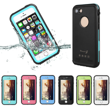 waterproof case for iphone7 5.5inch strong armor shell for iphone 7 plus IP68 level for swimming skiing diving