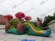 mushroom inflatable bouncy combo strawberry inflatable jumper with slide