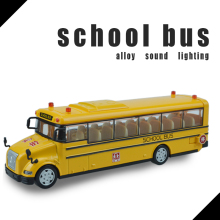 High simulation School bus scale alloy pull back School bus model Diecast bus cars toy Children's gift 1:32