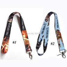 Free Shipping Final Fantasy Lanyard Keys ID Cell Phone Neck Strap