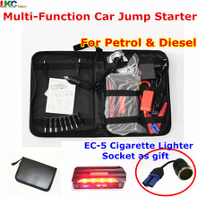 2017 New listing high-power car jump starter Mini Portable Emergency Charger for Petrol & Diesel 4USB Output With 4 Batteries
