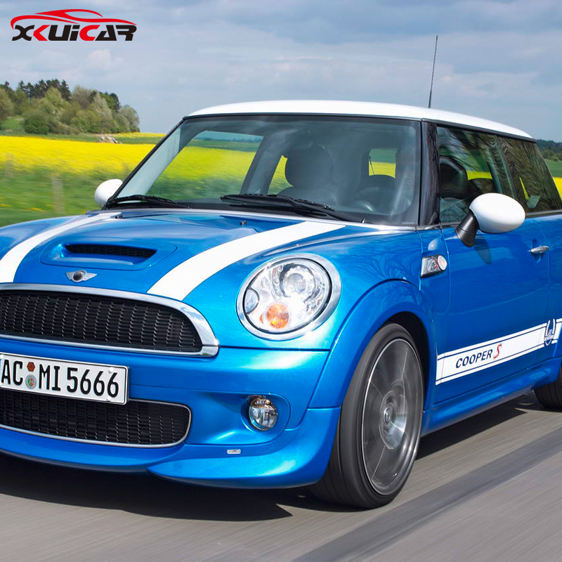 Body on both sides and Head White or Oem Pull flowers Car Stickers for BMW Mini Cooper S<br>