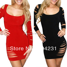 Black & Red color Night Club Dress hottie women wear 2016 new design sexy dresses fashion party clothes