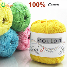 1pc 100% Cotton Knitting Yarn Crochet Yarn for Knitting Soft Smooth Natural Anti-Pilling 20 Colors Free Shipping