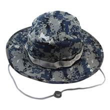 2017 New Arrive Military Camouflage Bucket Hats Jungle Camo Fisherman Hat with Wide Brim Sun Fishing Bucket Hat Caps Useful