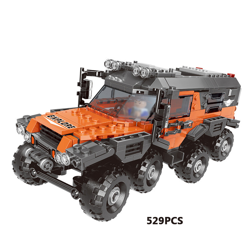 8X8 ATV MODEL CAR BUILDING BLOCKS COMPATIBLE WITH MAJOR BLOCK BRAND