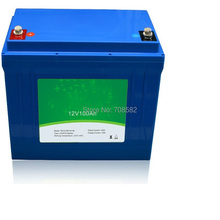 LIFEPO4 Battery 12 V100AH  with BMS TB12100F M110A for caravan,sweeper,forklift machine,truck with plastic case  Deligreen