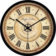 Retro European American living room wall mute quartz electronic clock watch big creative fashion classical nostalgia(China)