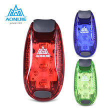 AONIJIE Portable Mini Cycling Warning Bike Light Safety Bicycle Rear Lamp Backpack Helmet 3 LED Waterproof Outdoor Running Light