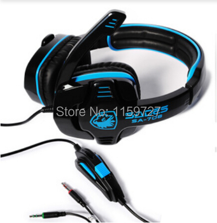 High quality Brand 3.5mm computer headphone Sa708 gaming headset earphones with microphone professional head set for PC gamer<br><br>Aliexpress