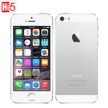 Apple iphone 5s Mobile Phone Factory Unlocked IOS Touch ID 4.0 16GB/32GB/64GB ROM WCDMA WiFi GPS 8MP original Smartphone used(China)