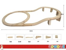 Thomas and His Friends - 1Set 21PCS Viaduct Thomas Train Wooden Track Railway Loops Bridge Track For Thomas Biro Train