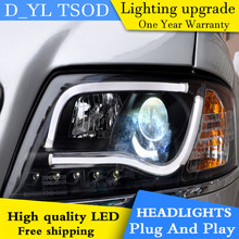 D_YL Car Styling for Audi A6 Headlights 1999-2004 A6 LED Headlight DRL Lens Double Beam H7 HID Xenon bi xenon lens