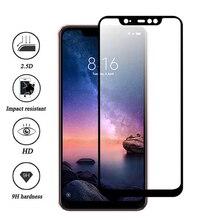 Tempered Glass Xiaomi Redmi Note 6 5 Pro S2 6 Pro 5 Plus 6A Mi 8 A2 Lite Pocophone F1 Screen Protector Protective Film Glass