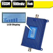 Philippines LCD Display EGSM 900mhz Cell Phone Mobile Amplifier GSM 70dB Gain 880-960mhz EDGE Cellular Signal Booster Repeater