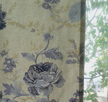 Flower cotton curtains, Door Curtain, hanging curtains, decorative curtains, elegant flowers, pastel beige