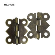 2017 New Real Blum Charniere De Meuble 50pcs/lot Cabinet Door Hinge 4 Holes Butterfly Bronze Tone 20mm X17mm Free Shipping(China)