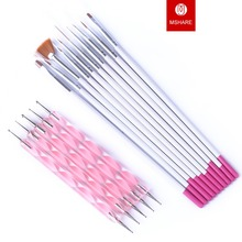 15pcs Nails Art Tool Polish Drawing Brushes Marbleizing Desires Dotting Tools Patinting Pens For Nail Design Manicure
