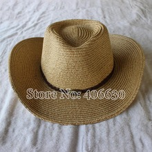 Summer Paper Braid Straw Cowboy Hats For Men Sun Hats Women Free Shipping SDDS-062