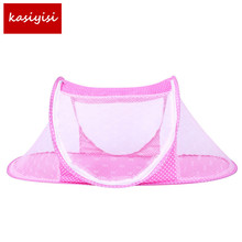 Baby Bed Nets Folding Mosquito Nets New Portable Folding Baby Mosquito Nets Ship Type Babies Cradle Bed Infant Sleeping Cribs(China)