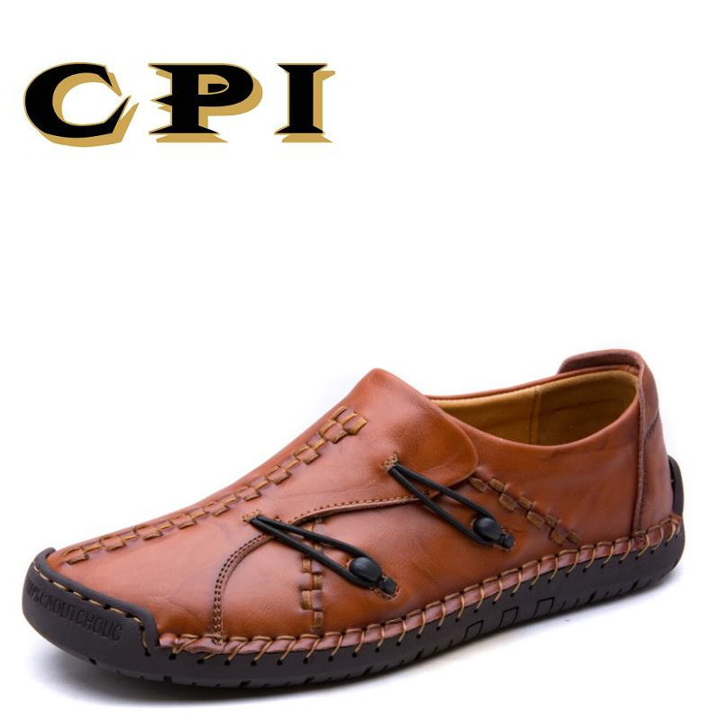 CPI autumn New Mens casual leather shoes sneakers British Style Breathable casual shoes soft Comfortable shoes AA-54     <br>
