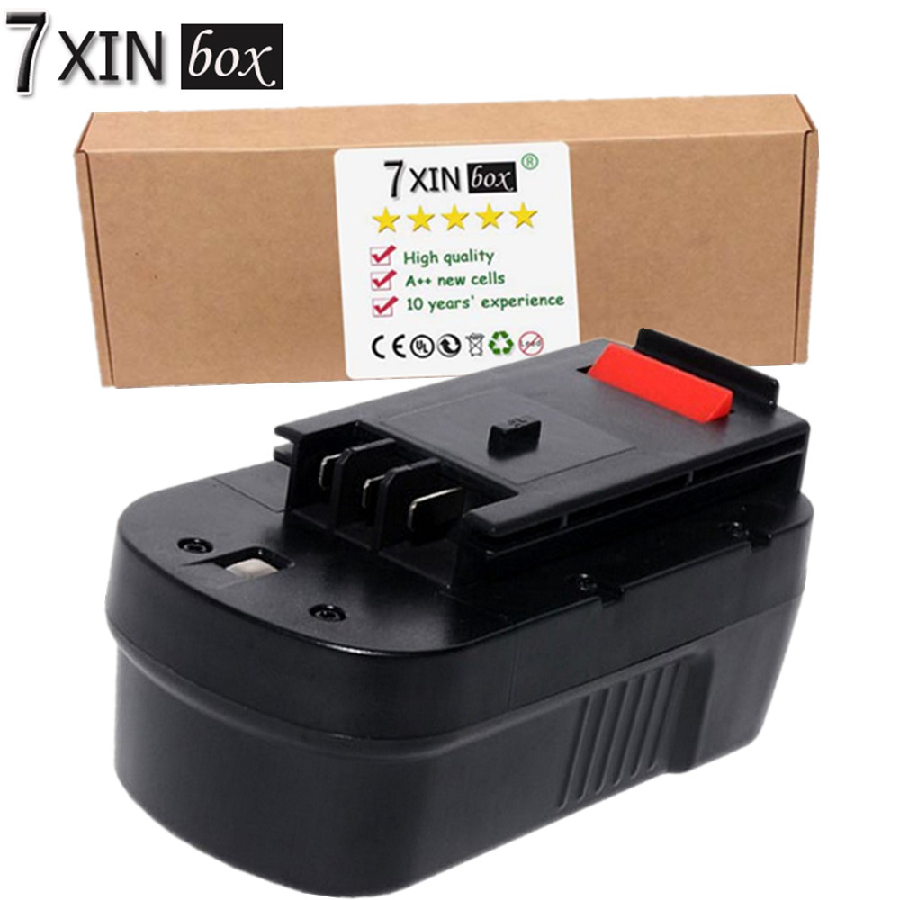 7XINbox 18V 3000mAh Battery For Black &amp; Decker HPB18 HPB18-OPE 244760-00 A1718 A18 A18E Firestorm FS180BX FS18BX FS18FL FSB1<br>