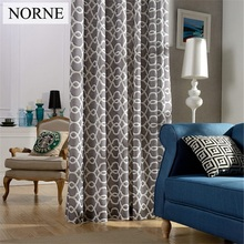 NORNE Room Darkening Curtains Geometric Printed  Window Panel Curtain,Heavy Thick Thermal Insulated Drapes for Bedroom,Liveroom