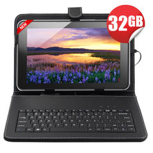 "32GB 10.1"" Inch A31S Quad Core WIFI Android 4.4 HDMI Tablet PC Keyboard Bundle"