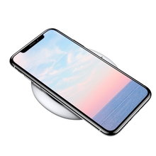 Buy Baseus Thin Qi Wireless Charger iPhone X 8 8Plus Fast Quick Charger Wireless Charging Pad Base White Black Samsung for $11.04 in AliExpress store