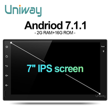 uniway AWD7071 2G+16G 2 din android car dvd for nissan qashqai x-trail almera pathfinder teana note juke multimedia gps player(China)