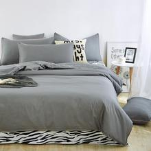 Made in China super soft bed sheet grey printed quilt covers breathable adult comforter set children bedding set