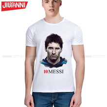 2017 summer MESSI Men t-shirt tops Man casual short sleeve t shirts Printing T Shirts Casual Tops Tee Plus Size 5XL