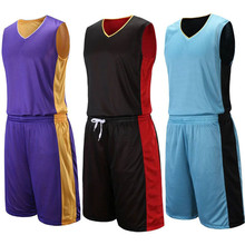 2017 Adult Men`s Reversible Basketball Jersey Sets Uniforms kits Sports clothes Double-sided basketball jerseys suits Customized