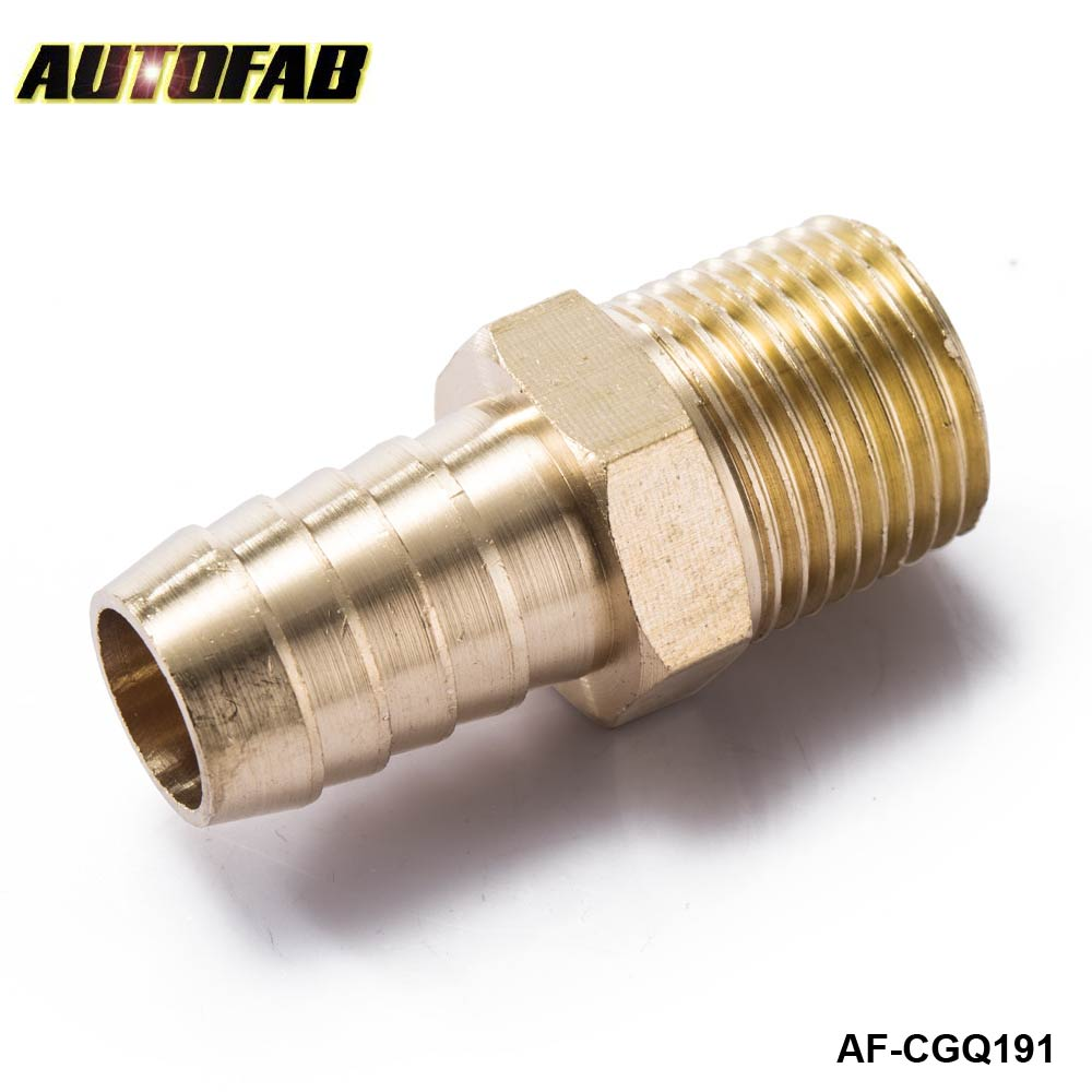 "AUTOFAB - 5/8 inch Hose Barb X 3/8"" M-NPT -Male Insert Brass Hose Fitting For Fuel pump/Oil cooler For Honda Civic AF-CGQ191"