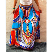 Women Skirt 2017 Autumn Thailand Wind Style Long Skirt Printed And Put On Large Spot Color Skirts Free Shipping