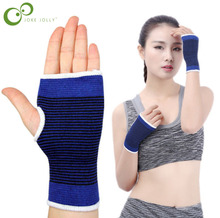 1Pair=2Pcs Flexible hand belt Palm Wrist Hand Support Glove Elastic Brace Sleeve Sports Bandage Gym Wrap For Man and Woman GYH(China)
