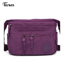 TEGAOTE Fashion Multi Zipper Pocket Women Small Mini Shoulder Messenger Crossbody Bag Ladies Satchel Handbag Cellphone Pouch(China)