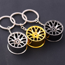 rylybons Creative Key Chains Car Wheel Rim Model Car Styling fashion car keychain For Mercedes Ford BMW Audi key chain for car(China)