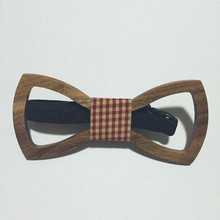 Hollow Men's Tie Wooden Bow Tie New Arrival Fashion Important Occasion Wood BowTie As a Gift For Your Loved(China)