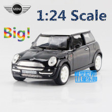 Free Shipping/1:24 Scale/Mini Cooper/Educational Model/Classical Limited Pull back Diecast Metal toy/For Kid/Collection Gift