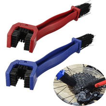 Plastic Cycling Motorcycle Bicycle Chain Clean Brush Gear Grunge Brush Cleaner Outdoor Cleaner Scrubber Tool Blue Red