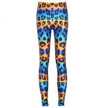 2017 Spring Leggings colored Leopard Printed Leggings Fashion Women Sexy Slim Stretchy Trousers High Waist Women Pants