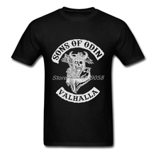 Brand Clothing Mens T-shirt Customized Sons of Odin T shirt Viking Short Sleeve Men Clothing 2XL,3XL