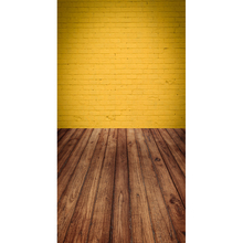 12ft yellow brick wall with floor vinyl cloth print photography backdrops for model photo studio portrait backgrounds F-1597