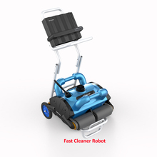 Robotic Pool Cleaner For Swimming Pool Size 100-300m2, 15m cable with Caddy Cart(China)