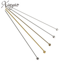 XINYAO 200pcs/lot Length 20 25 30 40 50 mm Metal Ball Head Pins For Diy Jewelry Making Head pins Findings Dia 0.5mm (24 gauge)