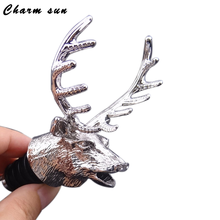Deer Head Red Wine Bottle Cork Pourer Stopper Wake Up Device Wine Pouring Device Tool Accessories(China)